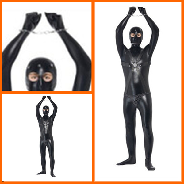 Herren Gimp Anzüge Bondage Rubber Fetish Halloween Kostüme Cosplay Kostüme