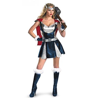 Womens Thor Girl Cosplay Superhero Party Halloween Costume