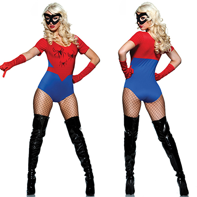 Blue Spider Woman Halloween Costume Cosplay