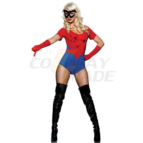 Blau Spider Frau Halloween Kostüme Cosplay Kostüme