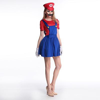 Adult Mario Luigi Green Costume Woman Cosplay Halloween