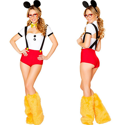 Carino Mickeys Playhouse Da donna Topolino Halloween Costumi