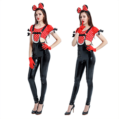 Adulto Halloween Mickey Mouse Disfraz Sexy Mujeres Disney Fiesta Cosplay