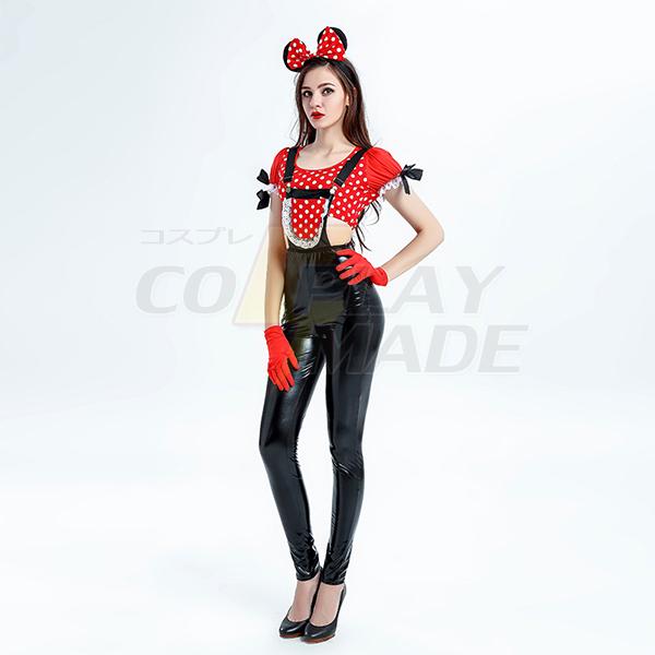 Erwachsene Halloween Mickey Maus Kostüme Sexy Damen Disney Partei Cosplay Kostüme