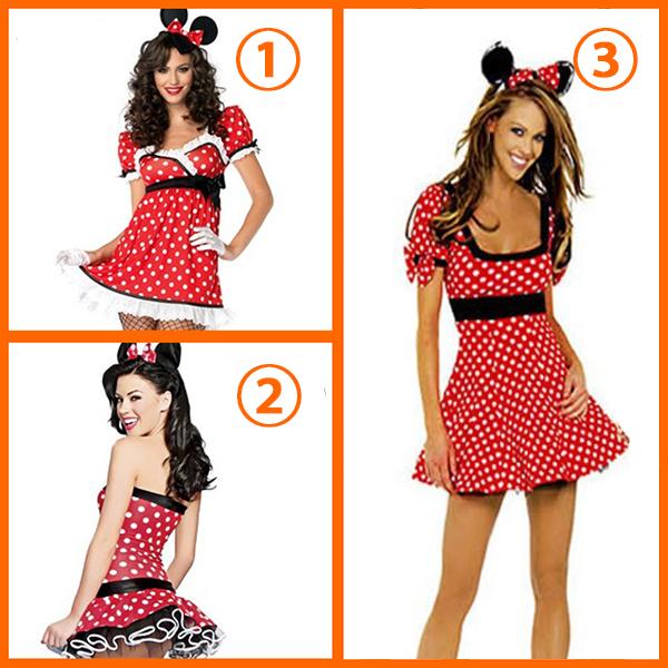 Sexy Mickeys Costume Cosplay Halloween Clothing