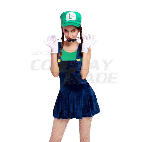 Deluxe Mario Plumber Grün Kostüme Cosplay Kostüme Halloween