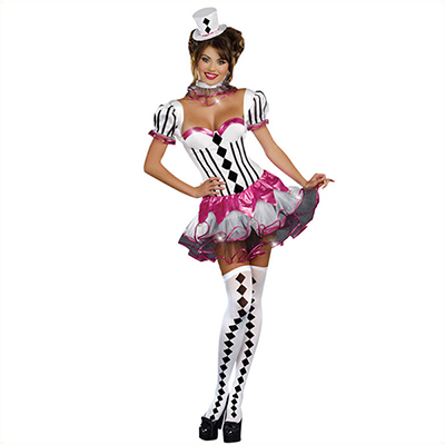 Sexy Sweetheart Harlequin Costume Cosplay Halloween Outfit