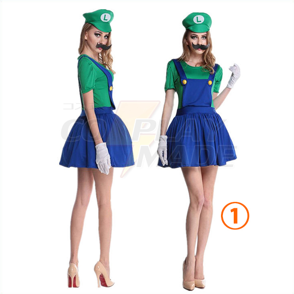 Damen Erwachsene Super Mario and Luigi More Color Kostüme Cosplay Kostüme
