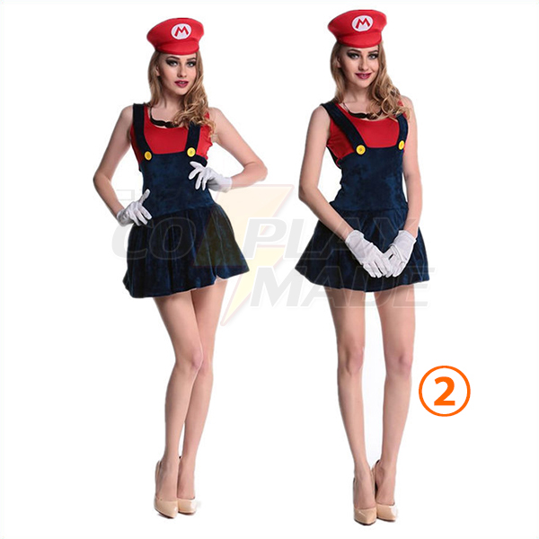 Womens Adult Super Mario and Luigi More Color Costume Cosplay