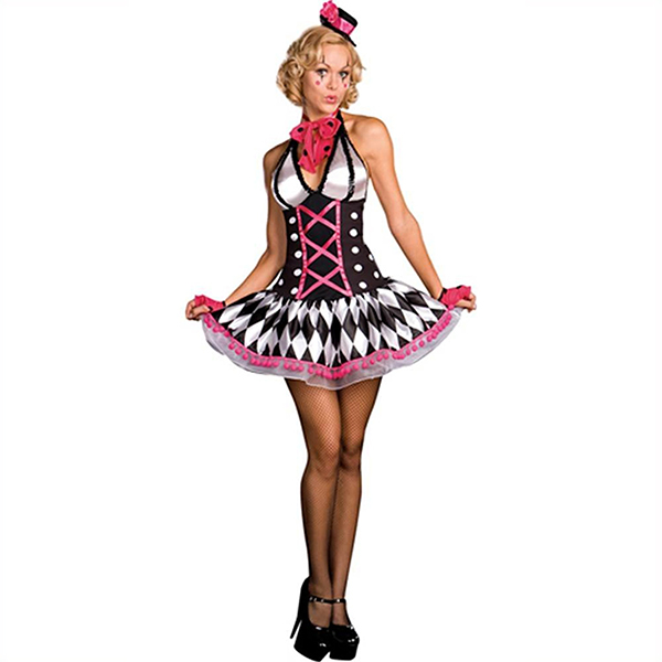 Populære Harley Quinn Kostume Cosplay Halloween Fastelavn
