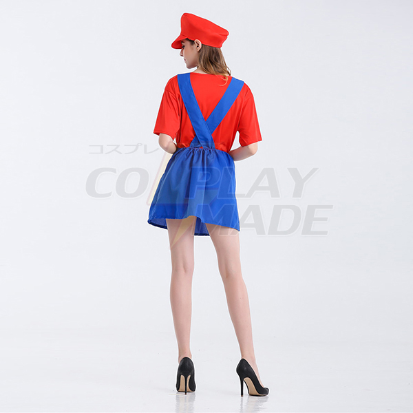 Carnival Party Apparel Super Mario Skirt Red Mario Costume Cosplay