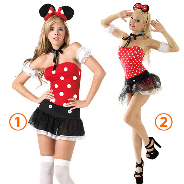 Cheap Women Mickey Costume Cosplay Halloween Clothes