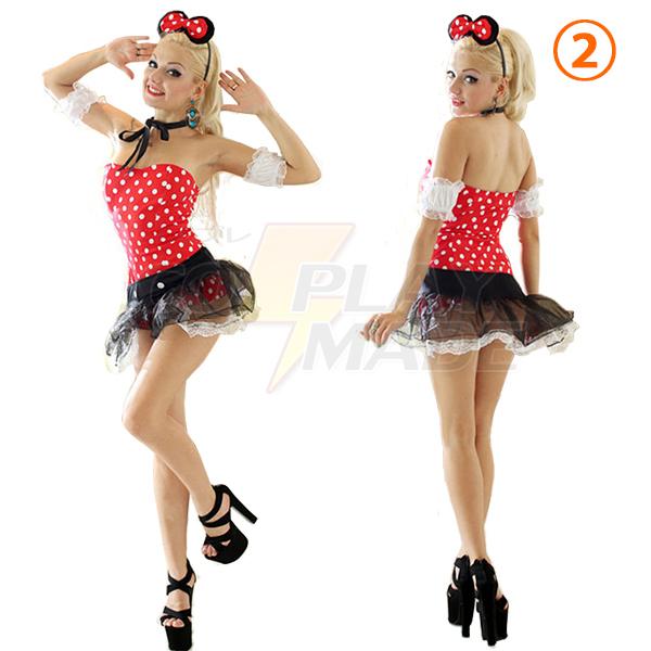 Billig Damen Mickey Kostüme Cosplay Kostüme Halloween Kleider