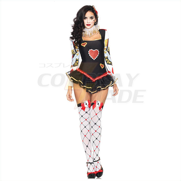 Populære Sexet Poker Kostume Cosplay Halloween Tøj Fastelavn