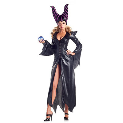 Women Witch Maleficent Costume Cosplay Halloween Clothes
