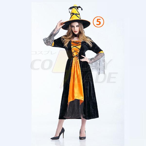 Dame Heks Lang Kostume Role Afspilning Stage Kostume Halloween Komsammen Tøj