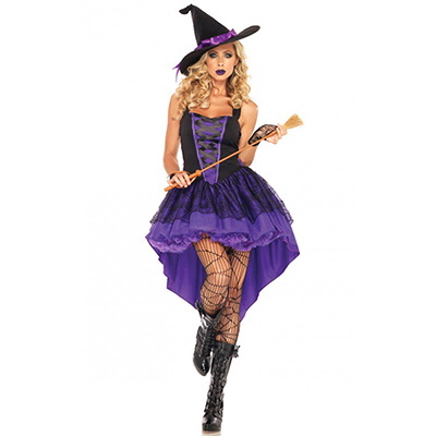 Adult Crazy Vixen Witch Costume Halloween Cosplay