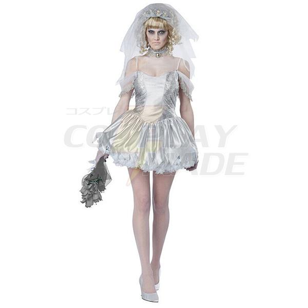 Women Zombie Bride Costume Cosplay Halloween