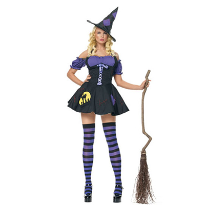 Women Magician Witch Dress Sexy Lingerie Girls Costume Cosplay Halloween