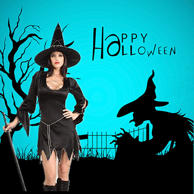 Sexy Fashion Black Dress Halloween Costume Cosplay