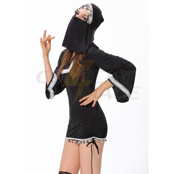 Sexy Burqa Costume Womens Dress Halloween Cosplay