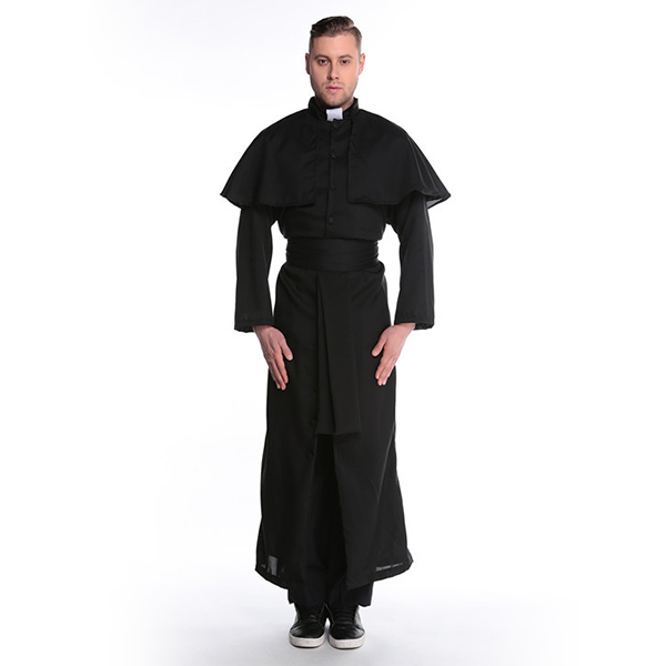 Mens Friar Priest Robe Costume Adult Religious Father Halloween
