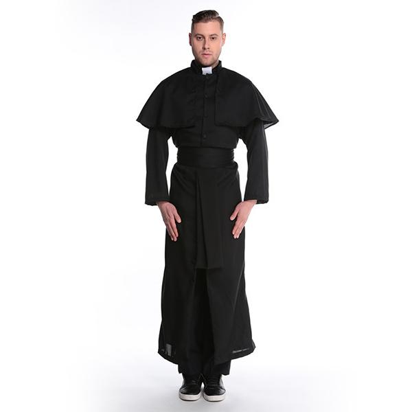 Herren Friar Priest Robe Kostüme Erwachsene Religious Father Halloween