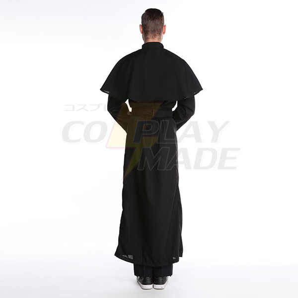 Herre Friar Priest Robe Kostume Voksen Religious Father Halloween Fastelavn