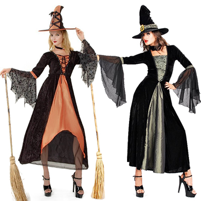 Witch Dress Party Performance Stage Costume Cosplay Halloween