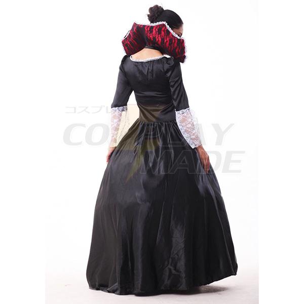 Dame Maleficent Evil Dronning Halloween Kostume Cosplay Fastelavn