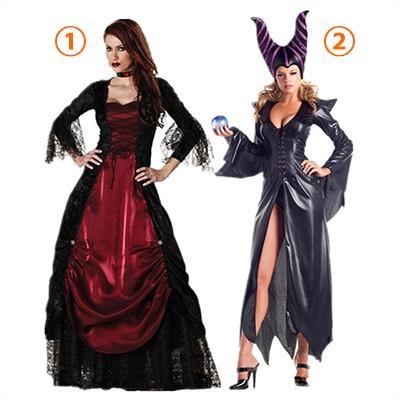 Voksen Gothic Vampyr Kostume Halloween Cosplay Fastelavn