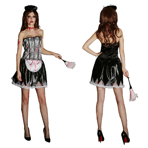 Womens Witch Divine Costume with Corset Skirt Cosplay Silver