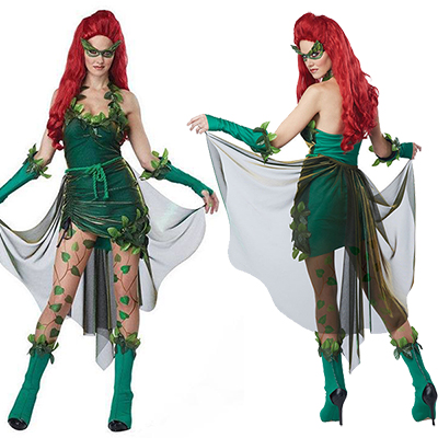 Womens Sexy Green Lethal Beauty Costume Cosplay Halloween