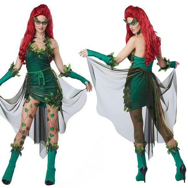 Damen Sexy Grün Lethal Beauty Kostüme Cosplay Kostüme Halloween