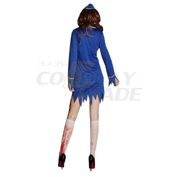Blau Guardian Bloody Kostüme Ghosts Empty Jersey Kleider Halloween Uniform