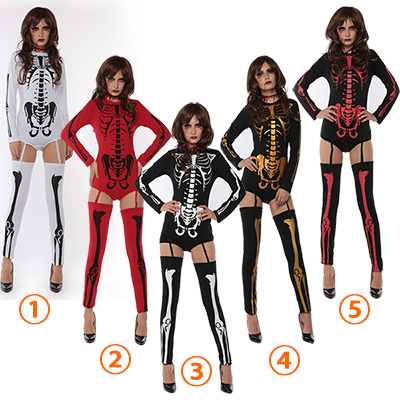 Sexy Skull Dress Skeleton Costume Cosplay Halloween