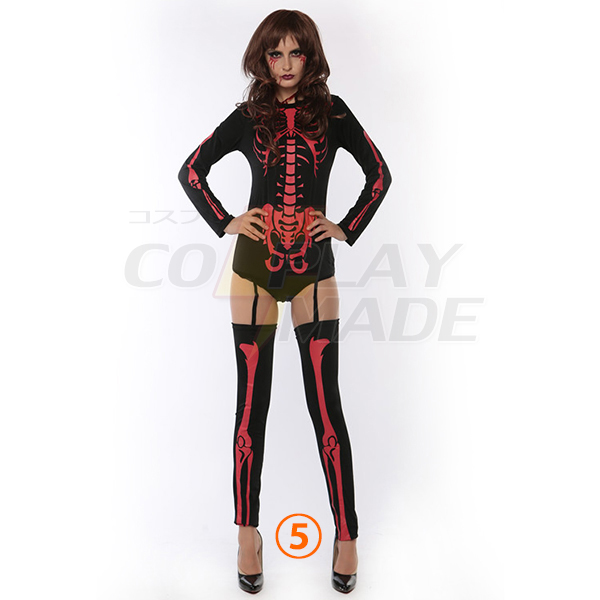 Sexy Skull Kleider Skeleton Kostüme Cosplay Kostüme Halloween