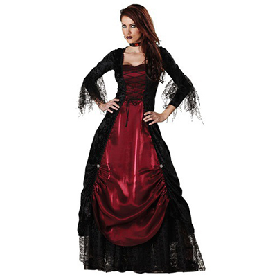 Populære Dame Gothic Vampyrss Kostume Cosplay Halloween