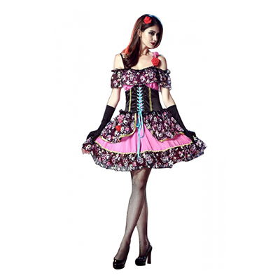 Womens Flower Vampiress Costume Cosplay Halloween