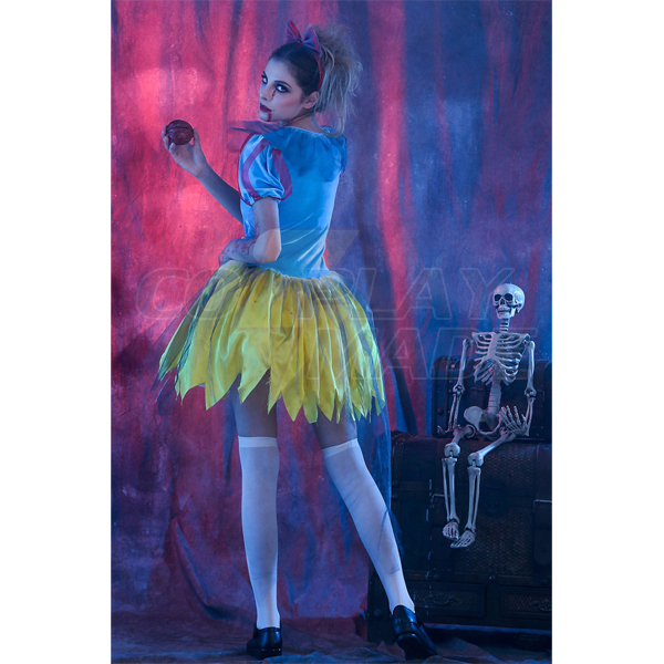Hell Devil Snowwhite Prinsess Ghost Kostüme Halloween Cosplay Kostüme