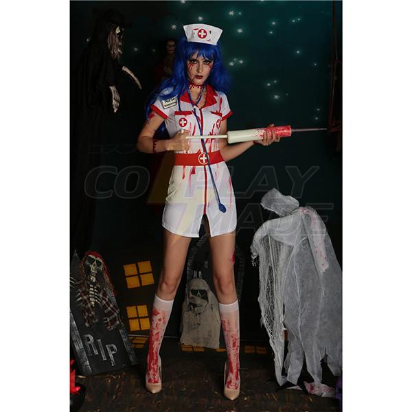 Weiß Bloody Nurse Kit Kostüme Cosplay Kostüme Halloween