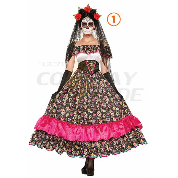 Dame Dag af Død Senorita Kostume Cosplay Halloween