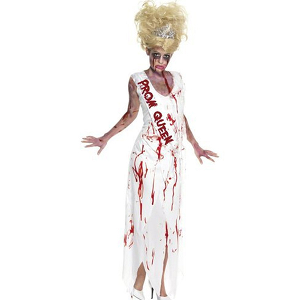 Goth Prom Dronning Piger Kostume Halloween Cosplay Fastelavn