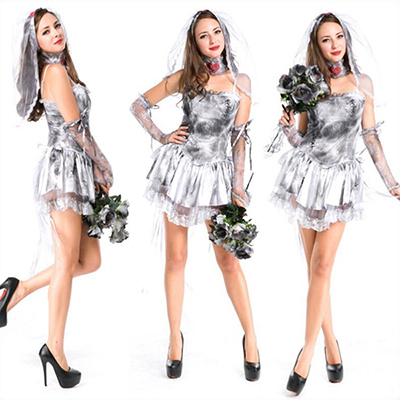 Adult Haunting Of The Dead Ghost Bride Reaper Costume Cosplay