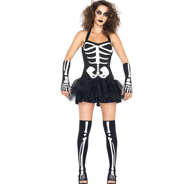 Damen Glow In The Dark Skeleton Kostüme Halloween Cosplay Kostüme