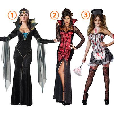 Damer Evil Sorceress Kostymer Parti Kvinners Antrekk Halloween