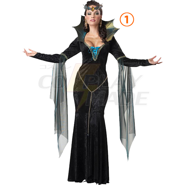 Ladies Evil Sorceress Costumes Party Women Outfits Halloween