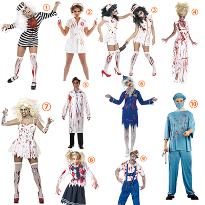 Adulte Bloody Zombie Costume Cosplay Halloween Carnaval