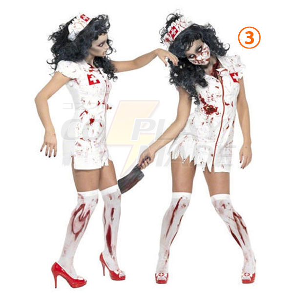 Adult Bloody Zombie Costume Cosplay Halloween