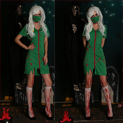 Sexy Women Green Sexy Costume Halloween Cosplay